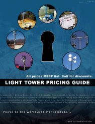 AL5000 Light Tower Pricing and Option Guide - Light Towers USA