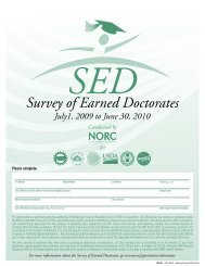 Survey of Earned Doctorates - The Graduate College at Illinois