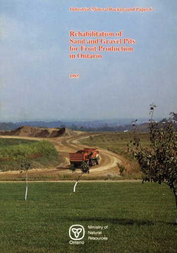 Rehabilitation of Sand and Gravel Pits for Fruit Production in Ontario
