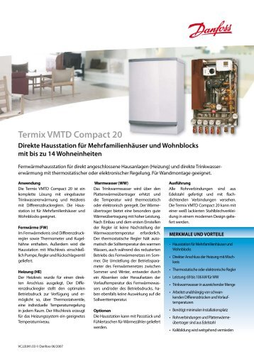 Termix VX Compact 20 - Danfoss