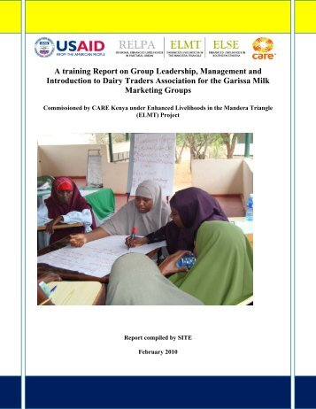 A training Report on Group Leadership, Management and ...