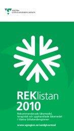REKlistan - Vgregion.se - Västra Götalandsregionen