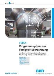 FERO – Programmsystem zur Festigkeitsberechnung - Bhr