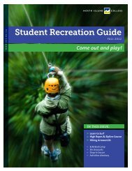 Student Recreation Guide - North Island College