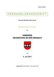 V E R H A N D L U N G S S C H R I F T - Neukirchen an der Enknach ...