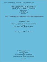 contents - University of Hawaii at Manoa Botany Department