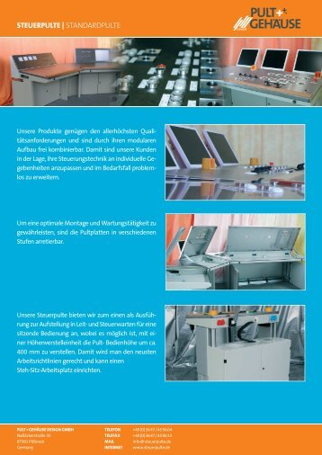 PULT+ GEHAUSE - Pult + Gehäuse Design GmbH