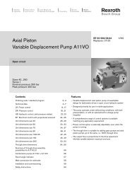 Axial Piston Variable Displacement Pump A11VO - Group VH A/S