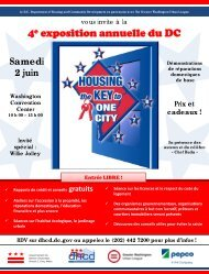4e exposition annuelle du DC - Department of Housing and ...