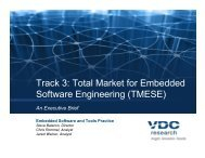 Embedded Software, Track 3: Total Market for ... - VDC Research