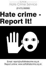 Hate Crime Report Form - Suffolk Hate Crime Service