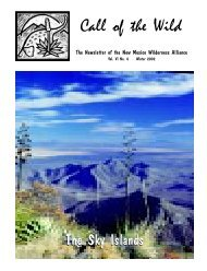 Call of the Wild - New Mexico Wilderness Alliance