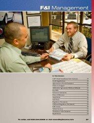 F&I Management Catalog - Reynolds and Reynolds