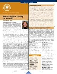 Mineralogical Society of America - Elements - GeoScienceWorld