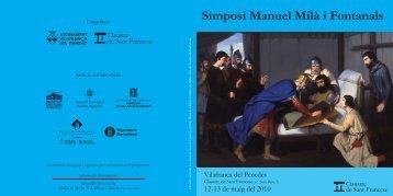 programa simposi 01.indd - Cultura - Ajuntament de Vilafranca del ...