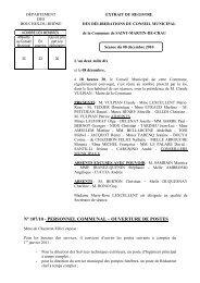 Personnel communal - Ouvertures de postes - Ville de Saint-Martin ...