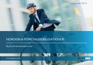 NorDISKA förETAgSoBlIgATIoNEr - Danske Invest