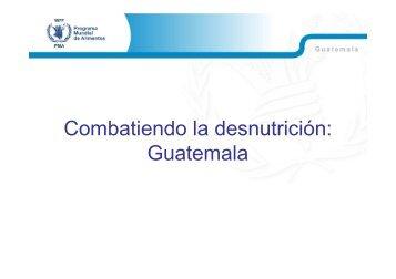 Combatiendo la desnutrición Foro Mercados y SAN - BVSDE