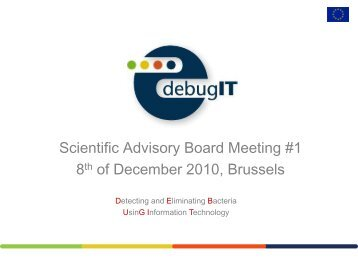 1st Scientific Advisory Board meeting, Brussels, Belgium ... - Debugit