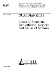 Cases of Financial Exploitation, Neglect, and Abuse of Seniors