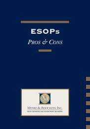 to download the entire ESOP Pros - Menke and Associates, Inc.