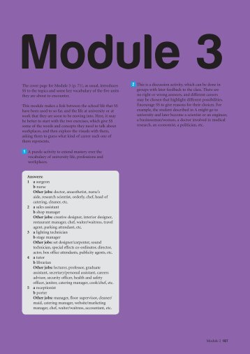 The cover page for Module 3 (p. 71), as usual ... - Srednja.net