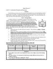 PHYS 1502: Energy & Matter Laboratory - Physics
