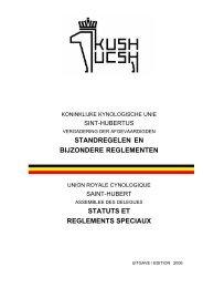 Standregelen en bijzondere reglementen KKUSH - VdA