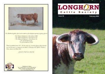 Newsletter No. 56: February 2008 - Longhorn Cattle Society