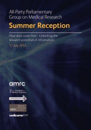 APPG on Medical Research summer reception 2012 Programme