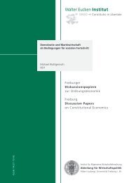 Quick Access - Abteilung für Wirtschaftspolitik und Ordnungstheorie