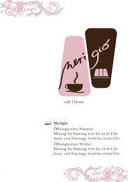Speisekarte und Öffnungszeiten merigio zähringen - Regioseiten