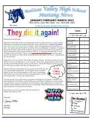 Jan/Feb/March 2012 Newsletter - Ralston Valley High School