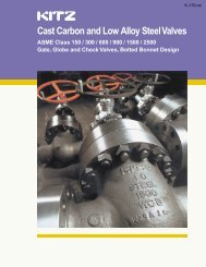 KITZ Cast Carbon and Low Alloy Steel Valves - Associated Valve