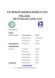 FAI SPACE MoDELS WORLD CUP POLAND 2010 zielona Góra Cup