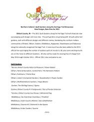 Northern Indiana's Quilt Gardens along the ... - Amish Country