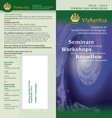 Termine, Preise, weitere Infos, download als PDF - ViaSanitas