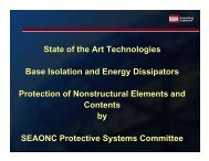 State of the Art Technologies Base Isolation and Energy Dissipators ...