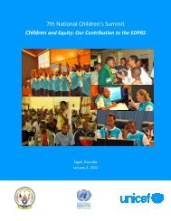 2012 Children's Summit Report - Rwanda Education NGO ...