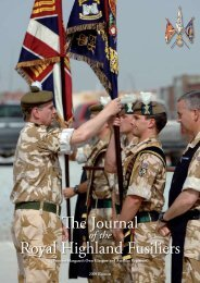 The Journal Royal Highland Fusiliers - The Royal Highland Fusiliers
