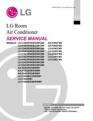 lg ceiling duct type air conditioner manual