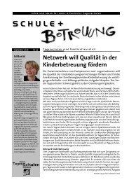 September 2006 - Bildung und Betreuung - Education et Accueil