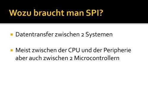 Serial Peripheral Interface - Projektlabor
