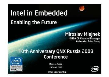 Intel in Embedded