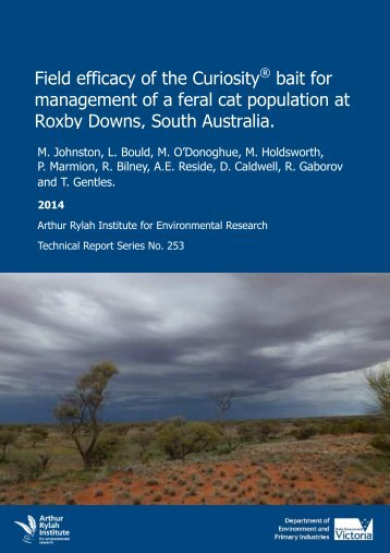 ARI-Technical-Report-253-Field-efficacy-of-Curiosity-bait-for-management-of-feral-cat-Roxby-Downs