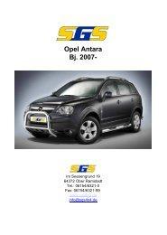 Opel Antara Bj. 2007- - SGS
