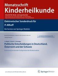 P. Allhoff, R. Kerbl, G. Schubiger - Politische Kindermedizin