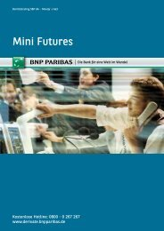 Mini Futures - BNP Paribas