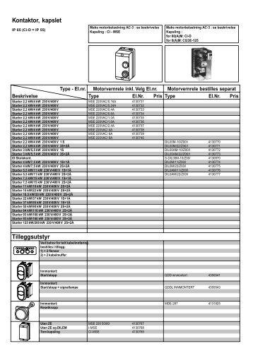 Kontaktor, kapslet Tilleggsutstyr - Moeller