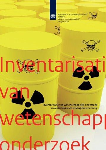 Inventarisatie van wetenschappelijk onderzoek en ... - Rijksoverheid.nl